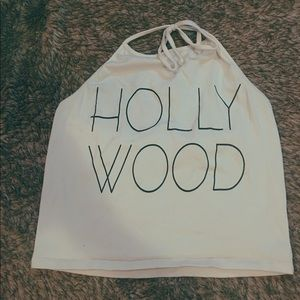 Hollywood cropped halter